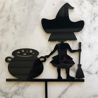 Halloween Witch and Cauldron Cake Topper
