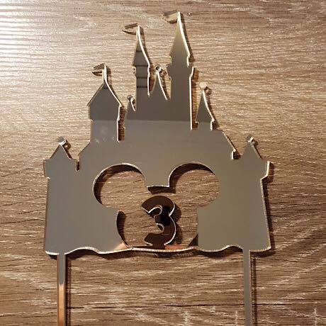 Mickey Castle with age Cake Topper