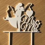 Bride & Groom - Mr & Mrs Cake Topper (Fishing)