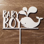 Baby Boy with Whale Cake Topper