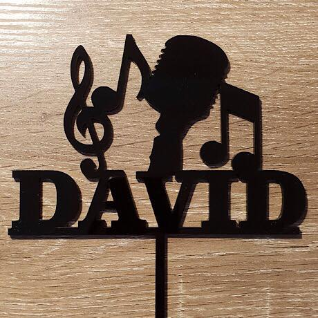 Personalised Music Cake Topper