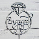 Engaged inside Ring Cake Topper