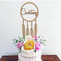 Dreamcatcher with Name Cake Topper