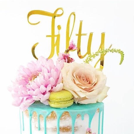 Fifty Cake Topper