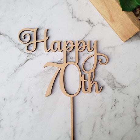 Happy 70th Cake Topper