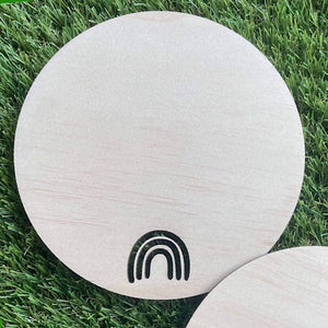 15cm Plywood Round with Rainbow cut out x 50 pieces
