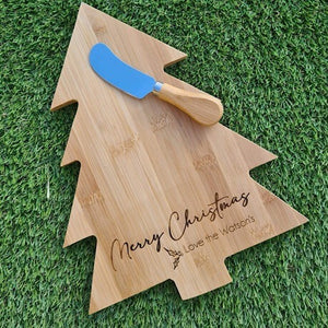 Christmas Tree bamboo board (personalised)