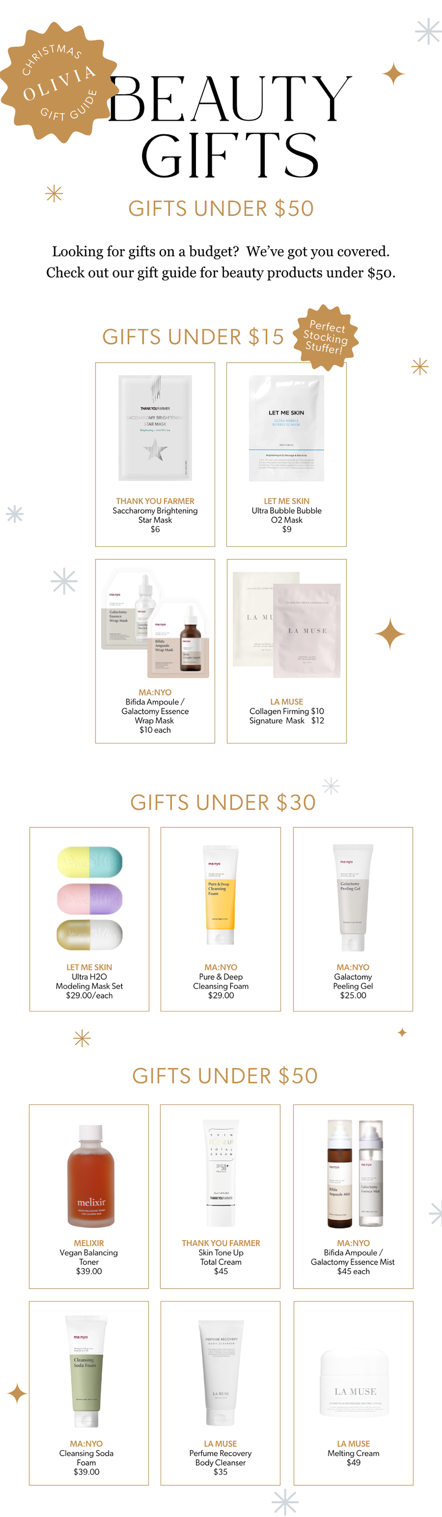 OLIVIA Blog: 2020 Christmas Gift guide