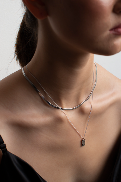 OLIVIA NZ Store online | Addicted Necklace / Silver