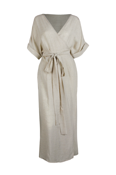OLIVIA NZ Store online | Mariana Wrap Dress / Beige - OLIVIA NZ
