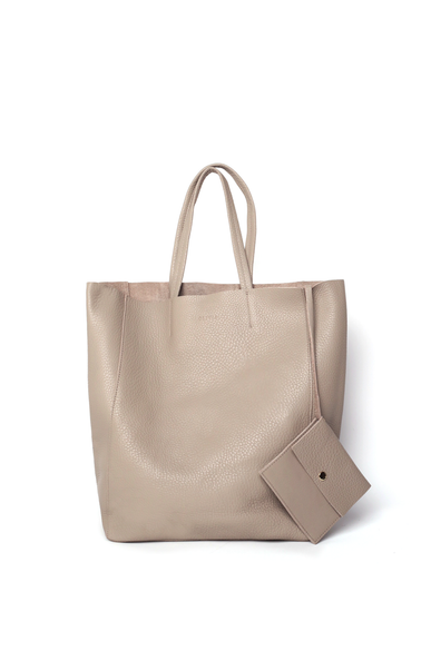 OLIVIA NZ Store online | Joy Leather Shopper Bag / Taupe