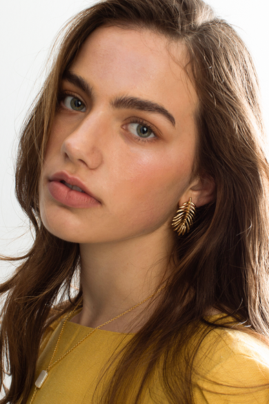 OLIVIA NZ Store online | Leafy Earrings / Gold - OLIVIA NZ