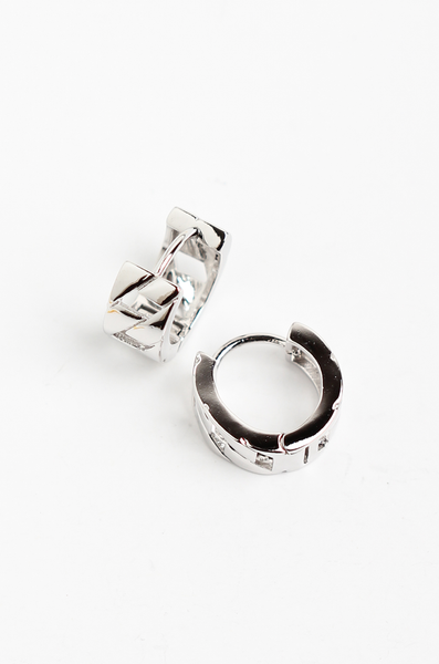 OLIVIA NZ Store online | Blair Mini Hoop Earrings / Silver