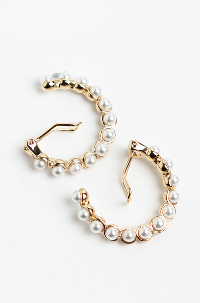 OLIVIA NZ Store online | Ruru Pearl Clip Earrings / Gold |