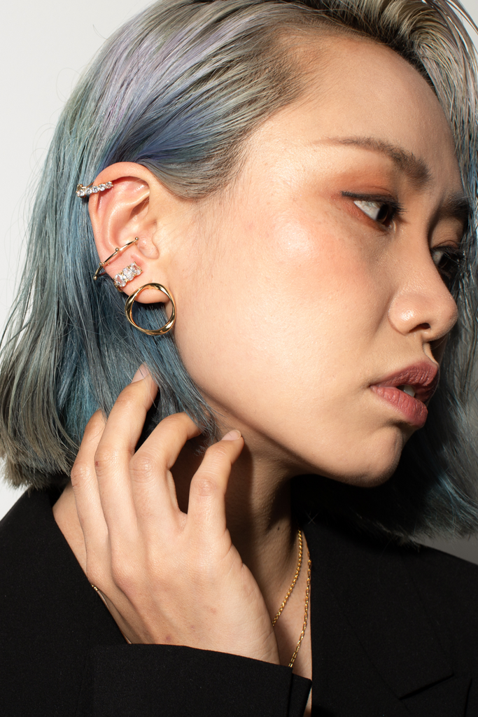 OLIVIA NZ Store online | Trinity Clip Earrings / Gold