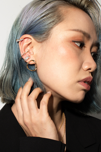 OLIVIA NZ Store online | Trinity Clip Earrings / Gold - OLIVIA NZ