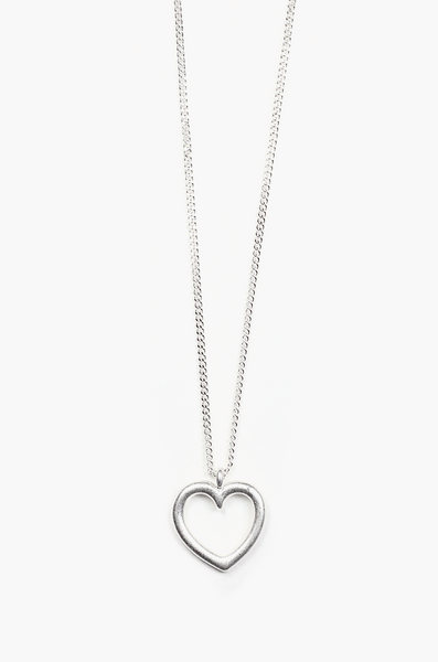OLIVIA NZ Store online | Heart Line Necklace / Silver