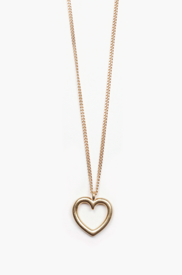 Heart Line Necklace / Gold