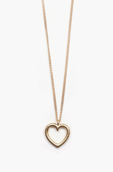 OLIVIA NZ Store online | Heart Line Necklace / Gold