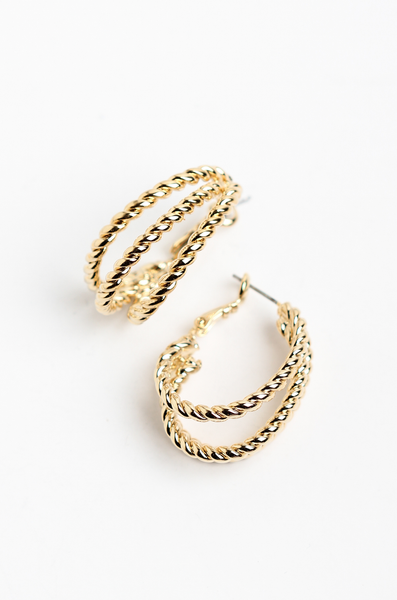 OLIVIA NZ Store online | Collins Earrings / Gold |