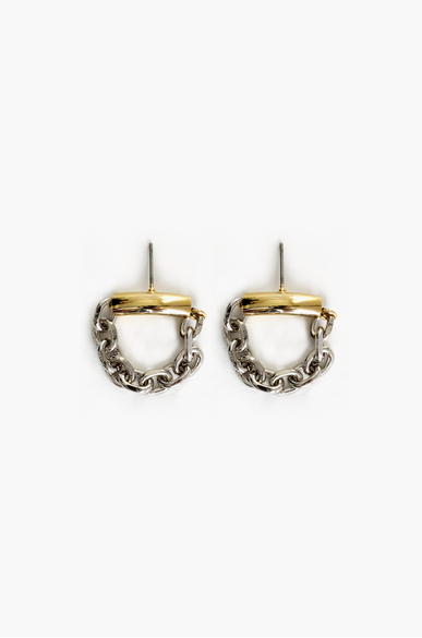 OLIVIA NZ Store online | Chain Linked Earrings / Silver