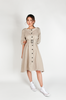 OLIVIA NZ Store online | Charlotte Linen Button Down Dress / Beige |