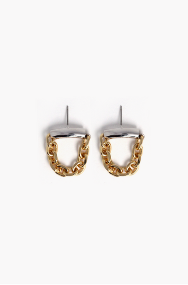 OLIVIA NZ Store online | Chain Linked Earrings / Gold