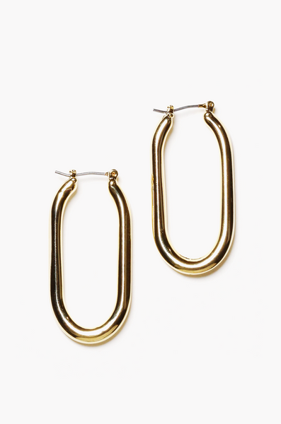 OLIVIA NZ Store online | Angelina Oval Earrings / Gold