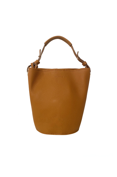 OLIVIA NZ Store online | Kira Leather Bucket Bag / Brown