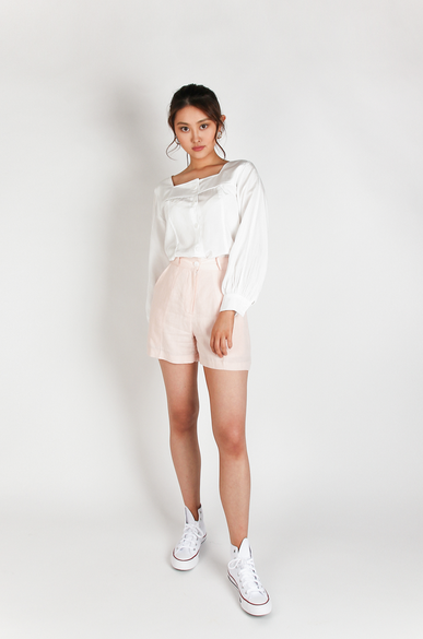 OLIVIA NZ Store online | Eleanor Retro Blouse / Cream