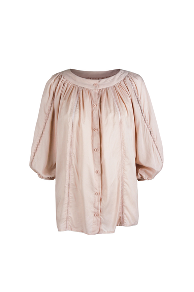 OLIVIA NZ Store online | Ines Flowy Blouse / Dusty Pink - OLIVIA NZ