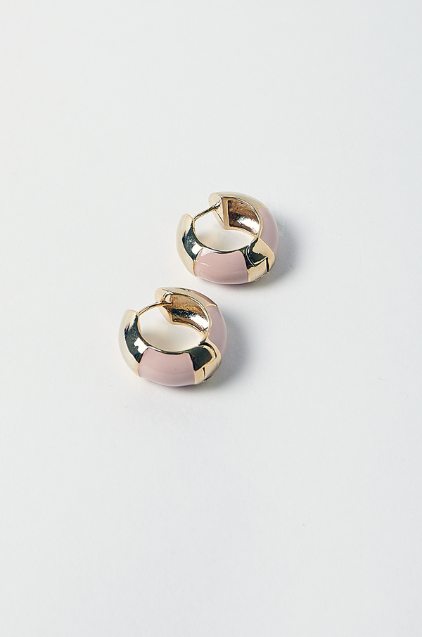 Revolver Hoop Earrings / Pink