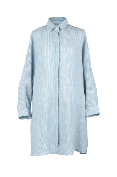 OLIVIA NZ Store online | Leighton Long Shirts / Blue - OLIVIA NZ