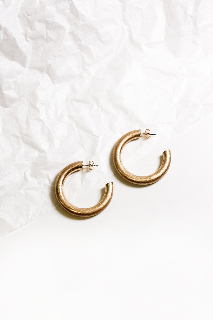 EF Bold Hoop Earrings