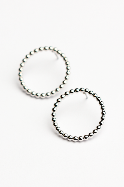 OLIVIA NZ Store online | Miley Circle Earrings / Silver