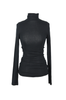 OLIVIA NZ Store online | Ribbed High Neck Top / Black |