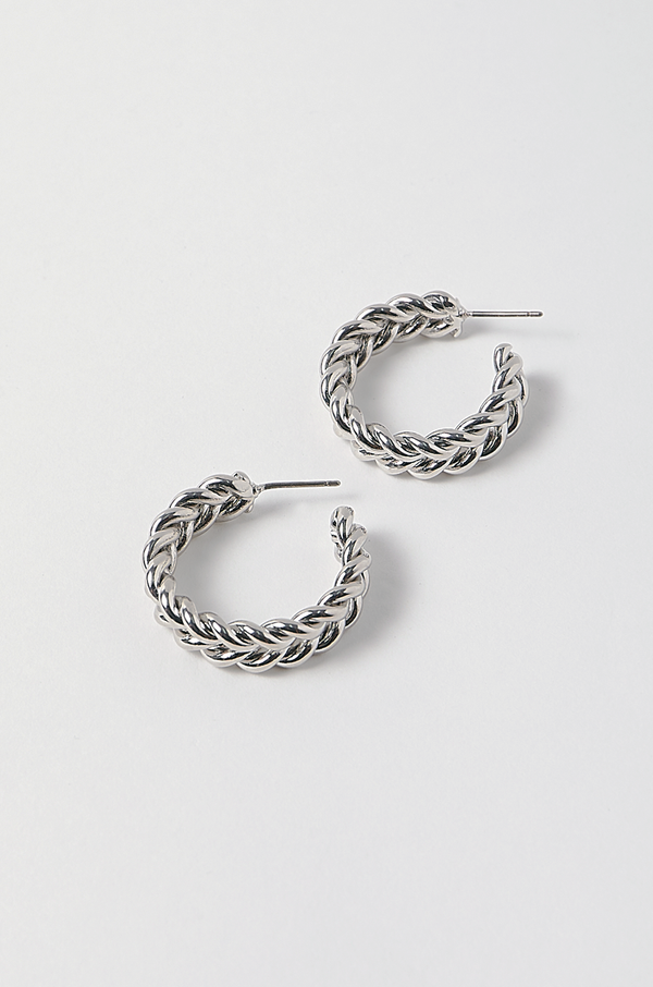 Eden Hoop Earrings / Silver