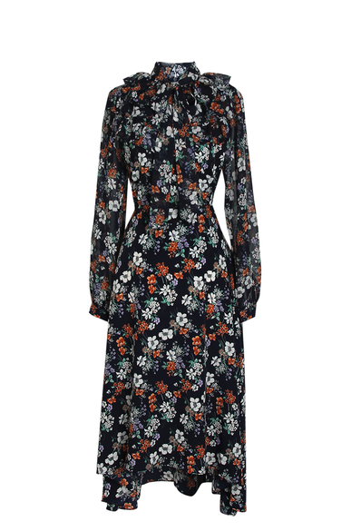 OLIVIA NZ Store online | Paige Floral Frill Dress / Navy