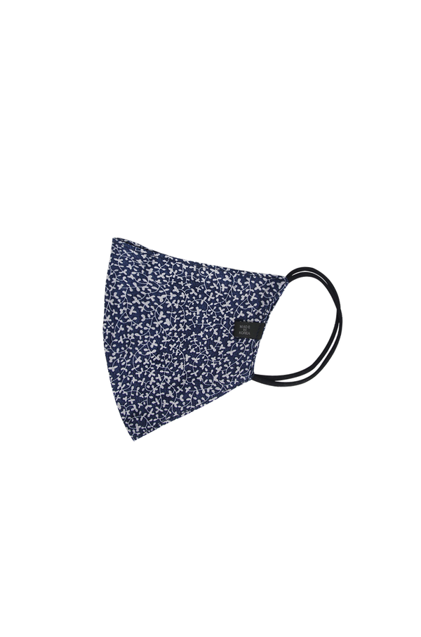 Rayon Face Mask / Floral Navy