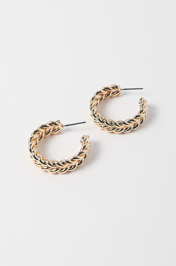 Eden Hoop Earrings / Gold