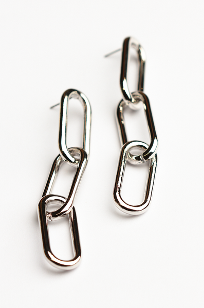 OLIVIA NZ Store online | Etta Chain Earrings / Silver
