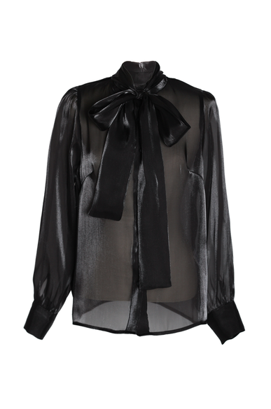 OLIVIA NZ Store online | Rendezvous Bow Blouse / Black - OLIVIA NZ