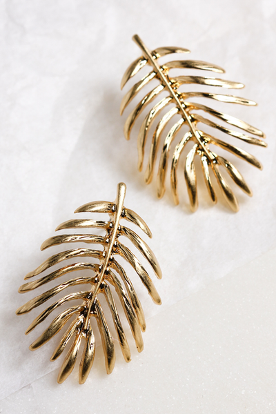 OLIVIA NZ Store online | Leafy Earrings / Gold