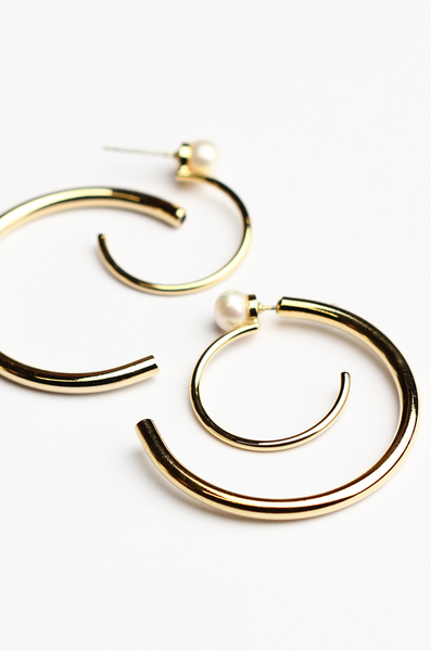 OLIVIA NZ Store online | Whirlwind Earrings / Cream