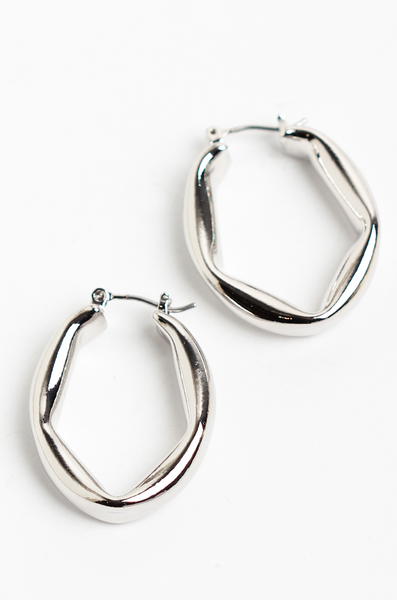 OLIVIA NZ Store online | Mary Hoop Earrings / Silver