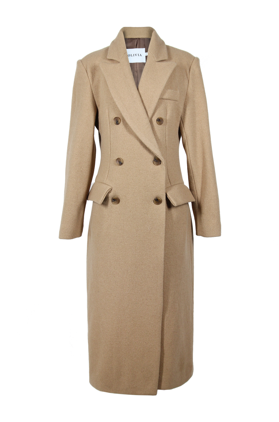 OLIVIA NZ Store online | Double Breasted Wool Coat / Beige
