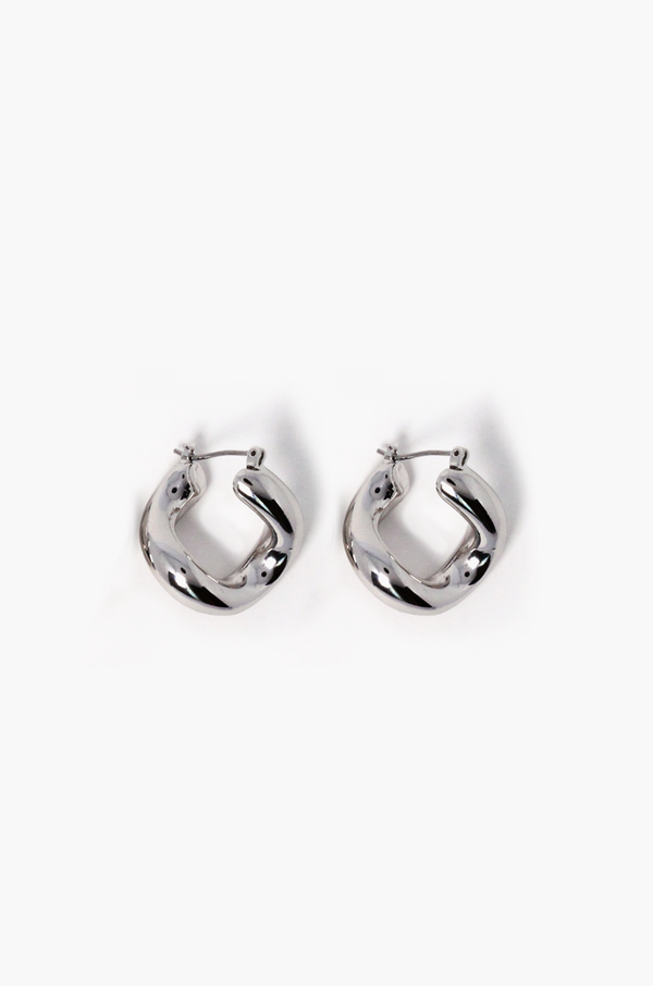 Mariner Hoop Earrings / Silver