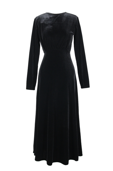 OLIVIA NZ Store online | Grace Velvet Dress / Black - OLIVIA NZ
