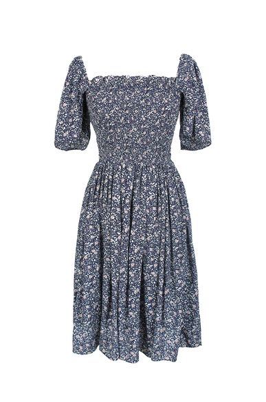 OLIVIA NZ Store online | Pansy Smocked Dress / Navy - OLIVIA NZ