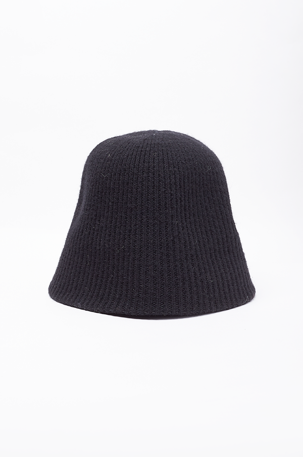 RIBBED BUKET HAT / BLACK